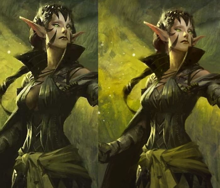 RIP Duels Promo Nissa (if she got turned into a creature somehow).